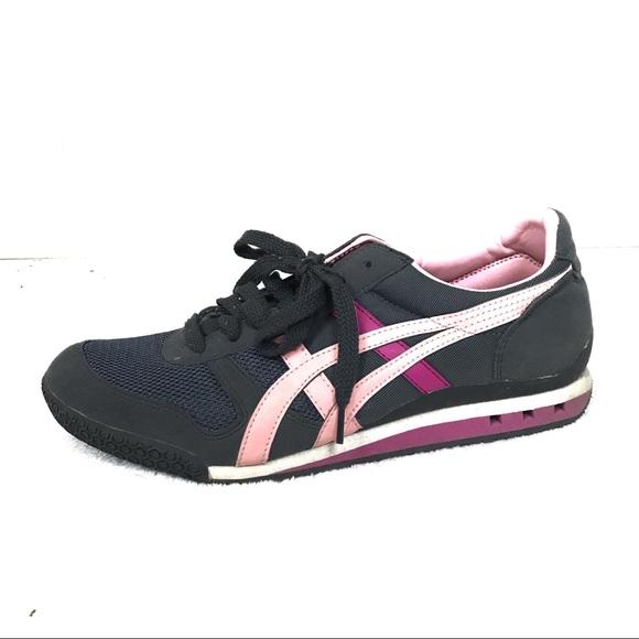 huge discount 6d515 c247b ASICS onitsuka tiger shoes women's gray pink 9